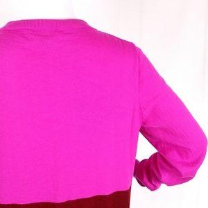 J. Crew Sweaters - J Crew Pink Red Colorblock Button Cardigan NN26C